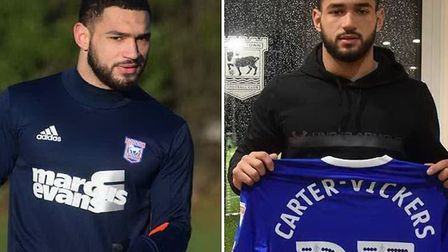Cameron Carter-Vickers will spend the rest of the season on loan at Ipswich Town. Picture: ITFC