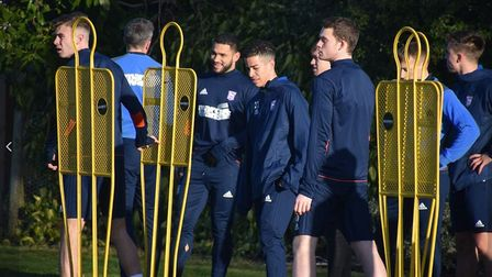Cameron Carter-Vickers trained with his team-mates for the first time on Friday after joining Ipswic