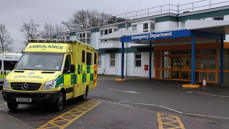 The A&E department at West Suffolk Hospital in Bury St Edmunds. Picture: SIMON PARKER