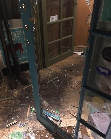 Extensive damage was caused to The Galley Restaurant in Woodbridge. Picture: THE GALLEY RESTAURANT