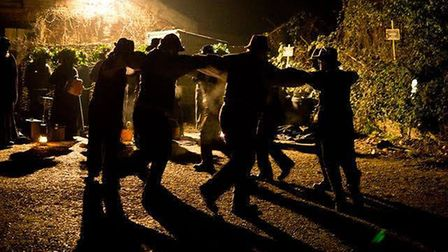The Old Glory Molly Dancers at last year's Wassailing event in Sweffling. Picture: JUSTIN KIBBLE