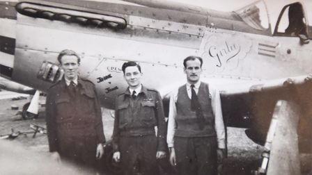 Peter Hearne in his RAF days (centre). Picture: GREGG BROWN