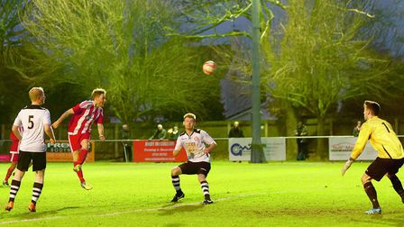 Scott Chaplin finds himself clear to head home the equaliser for the Seasiders. Picture: STAN BASTON