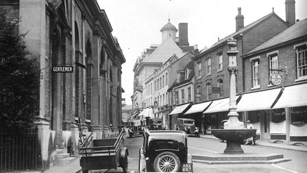 1. This is the centre of a West Suffolk town, a photograph from the mid 1930s