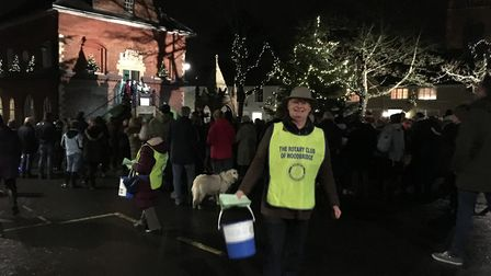 The 66th Open Air Carol Service in Woodbridge raised more than £1,100 for charity. Picture: MARGARET