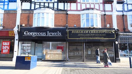 Jewellery stores Gorgeous Jewels and Boreham Christopher in Hamilton Road in Felixstowe were alleged
