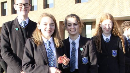 Around �500 was raised for five charities by students at Thomas Gainsborough School. Picture: MARCEL