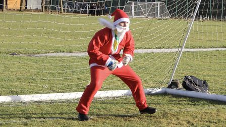 Students organised a 'Beat Santa' penalty shoot-out. Picture: MARCELLE CLAXTON