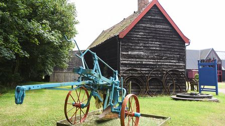 Museum of East Anglian Life - old plough provides a static display in the museum grounds. Picture: G