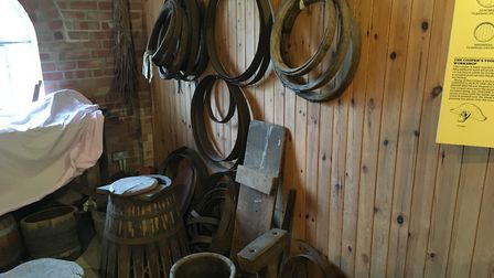 The Museum of East Anglian Life - barrel making display