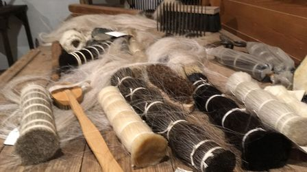 The Museum of East Anglian Life - horse hair display