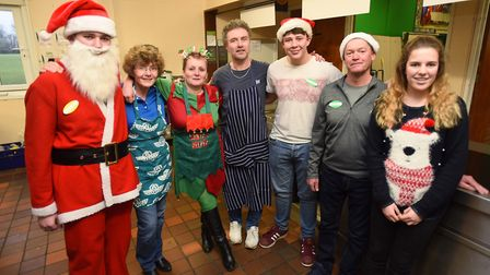 Gatehouse Christmas lunch at St Benedicts School in Bury St Edmunds. Picture: GREGG BROWN