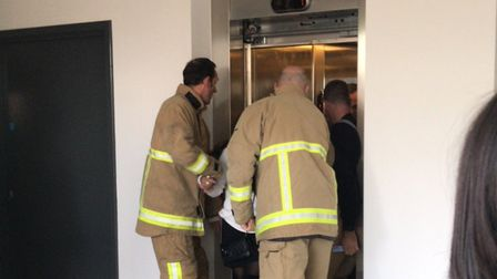 Six people were rescued from a lift at Constantine Road car park. Picture: GARETH BOUSFIELD