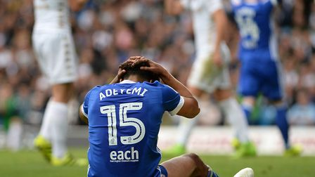 Tom Adeyemi's first few months as an Ipswich player have been frustrating for him. Picture Pagepix