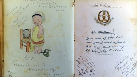 The visitors book from the former Belle Vue Hospital which forms part of the Sudbury Ephemera Archiv