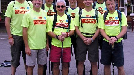 John Reeve, pictured left, with a group of fundraisers who joined him on the Trust's first national