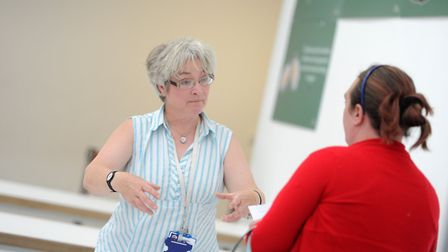 Workshops at Chantry Academy for the adult learning courses. Picture: SARAH LUCY BROWN