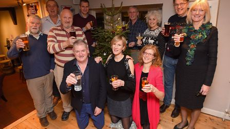 Committee members toast to a successful year at The Duke of Marlborough in Somersham. Picture: GREGG