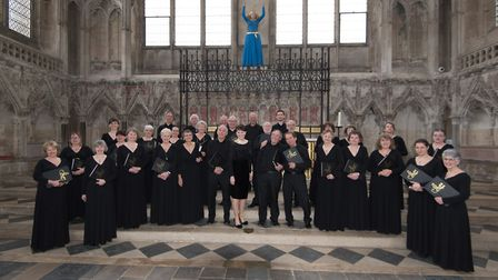 Suffolk Singers, pictured before a performance at Ely Cathedral, will be giving a concert in aid of