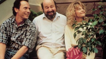 Rob Reiner, on the set of When Harry Met Sally with Billy Crystal and Meg Ryan. Photo: Columbia Tri-