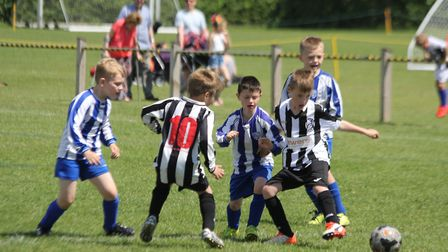 Youngsters taking part in the KBB Grassroots Festival at Ipswich�s Gainsborough Sports Centre in May