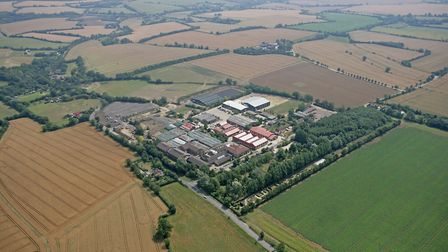 An aerial view of the Otley campus.