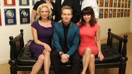 """Pete Waterman (top centre) with Faye Tozer, Claire Richards, Ian """"H"""" Watkins, Lee Latchford-Evans an"""