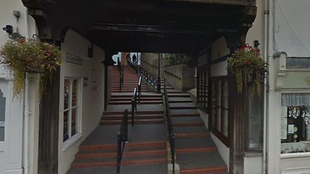 Walkway leading to St John's Walk in Colchester. Picture: GOOGLE MAPS