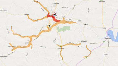 Flood warning issued for the Halesworth area in Suffolk by the Environment Agency. Picture: ENVIRONM