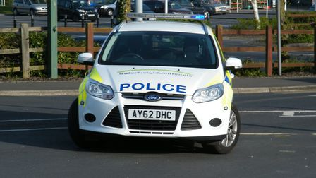Suffolk police have been called to take the car to safety. Picture: ARCHANT LIBRARY