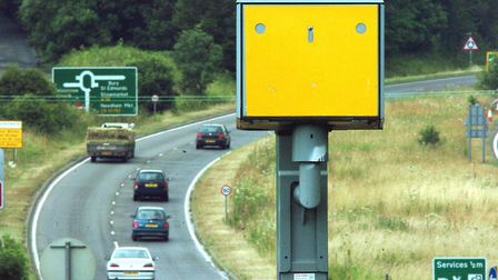 The accident happened near to the speed camera on the A140 in Coddenham. Picture: ARCHANT LIBRARY