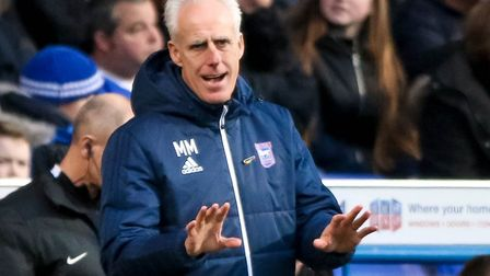 Town manager Mick McCarthy tells his players to keep calm after conceding the first goal in 2-1 defe