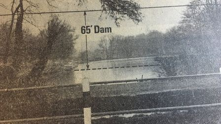 An indication of the height of the 65ft dam that would be built to create Alton Water reservoir. Pic