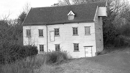 The water mill in March, 1973, before it was moved. Picture: Owen Hines