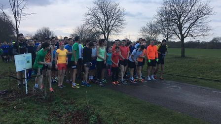 A field of more than 500 congregated at the start of the Peterborough parkrun. Picture: CARL MARSTON