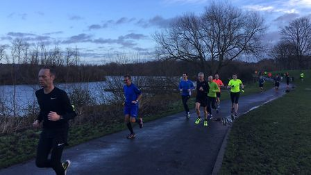 Clear skies greeted runners at the Peterborough parkrun last Saturday. Picture: CARL MARSTON