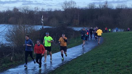 The scenic backdrop of Ferry Meadows Country Park, at last Saturday's Peterborough parkrun. Picture: