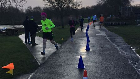 Runners stick to the tarmac paths of Ferry Meadows Country Park
