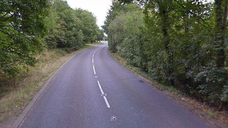 Elmswell Road in Woolpit has been closed after a man's body was found. Picture: GOOGLE MAPS
