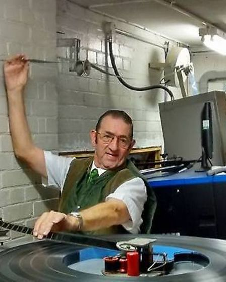 Pat Church working in the Abbeygate Cinema as a projectionist