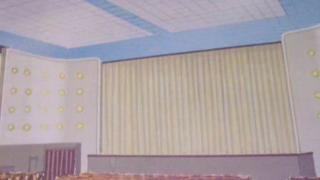 The old screen at the Abbeygate Cinema before it was converted into a bingo hall