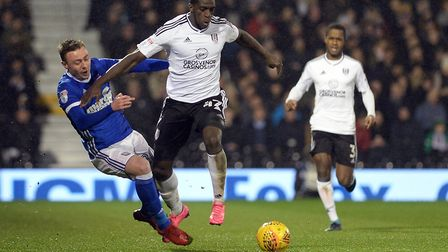 Freddie Sears is shoved off the ball by Jordan Graham at Fulham Picture Pagepix