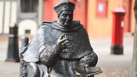 Thomas Wolsey statue in St Nicholas Street. Picture: GREGG BROWN