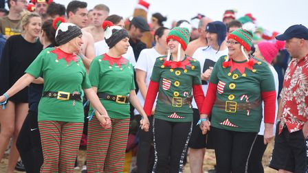 Fancy dress was the order of the day for many taking part in the dip at Felixstowe on Christmas Day.