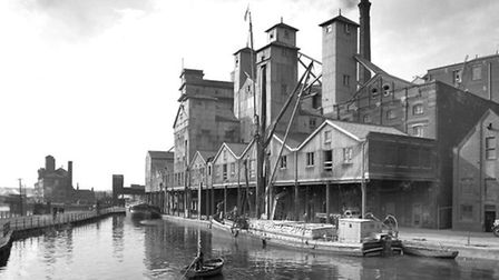 Cranfield's Head of Wet Dock with chimney. Picture: ARCHANT