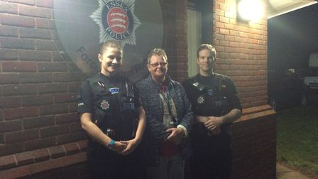 From left, Pc Amy Howard, nurse Claire Duckering and Pc Rob Bailey. Picture: GEMMA MITCHELL