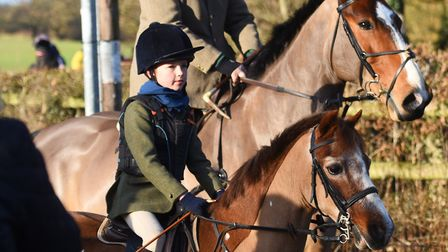 A younger rider joins this year's hunt. Picture: GREGG BROWN