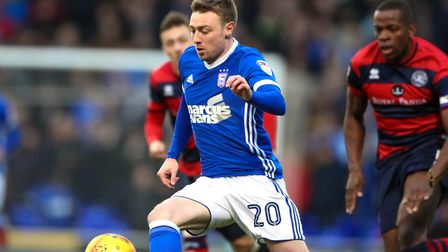 Freddie Sears back in the starting line-up for the Ipswich Town v QPR match.. Picture: STEVE WAL