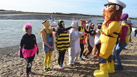Stormy Stan was on hand to judge the best fancy dress competition. Picture: CONTRIBUTED