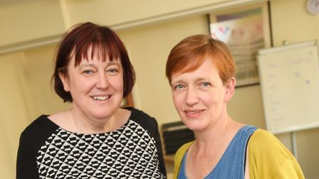 Audrey Ludwig and Sue Wardell launched the campaign for a new law centre earlier this year. Left to